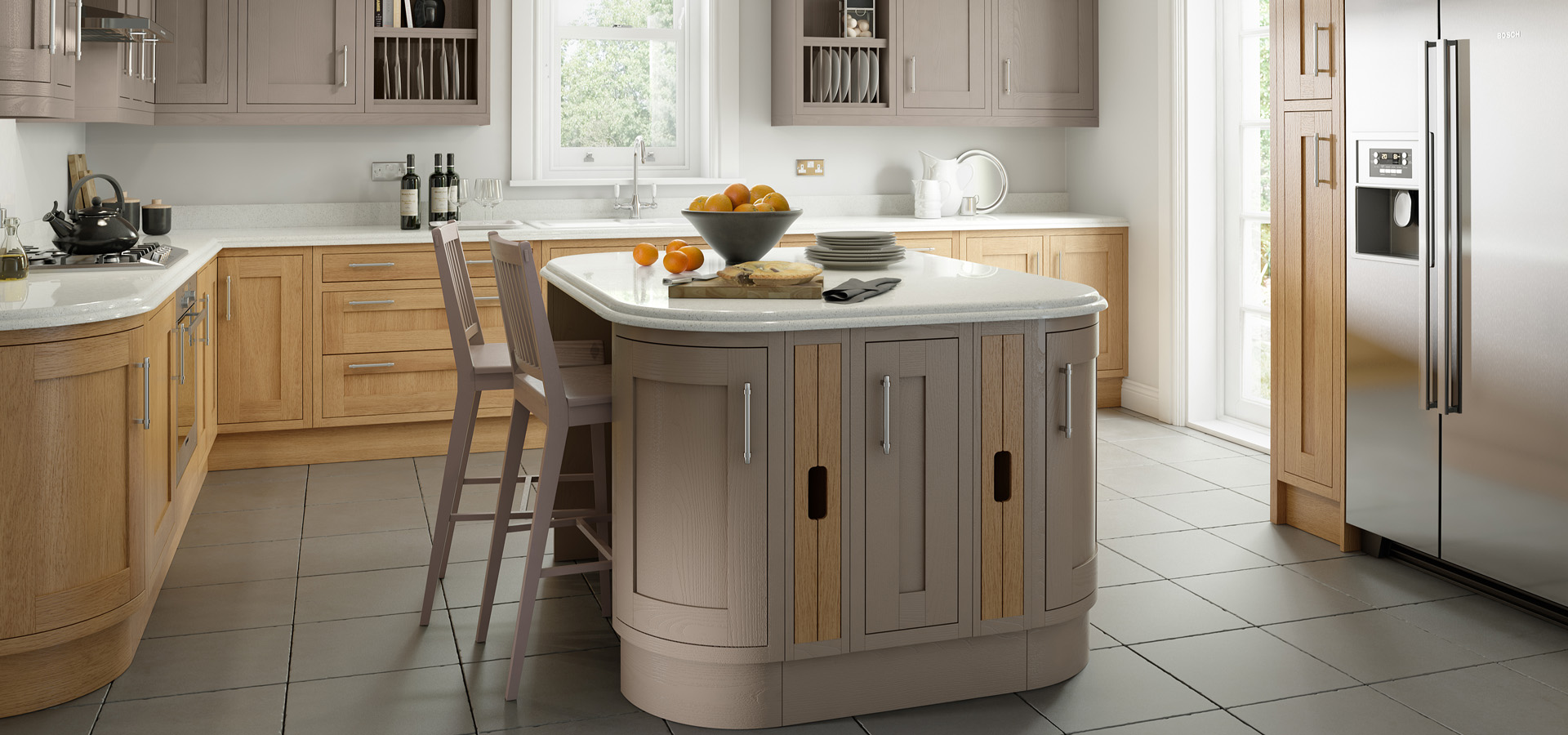 Country Painted Kitchen - Chippendale Kitchens   Supplied and Installed by Kingsbury Kitchens