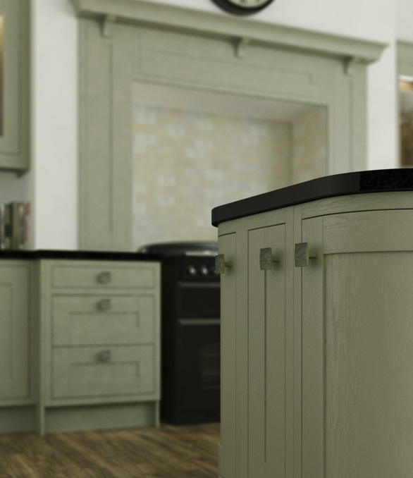In-Frame Ivory Traditional Style Kitchen - Chippendale Kitchens | Supplied and Installed by Kingsbury Kitchens
