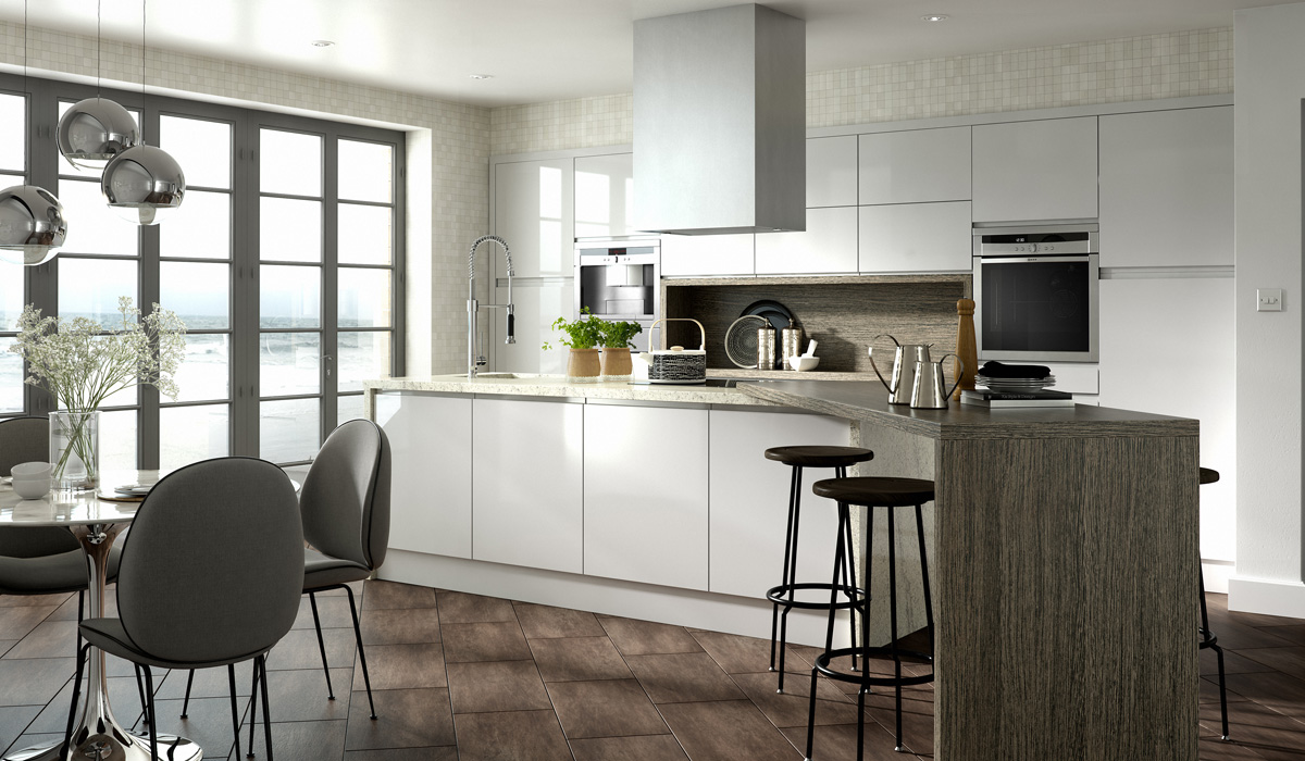 Solo Gloss Kitchen - Chippendale Kitchens | Supplied and Installed by Kingsbury Kitchens
