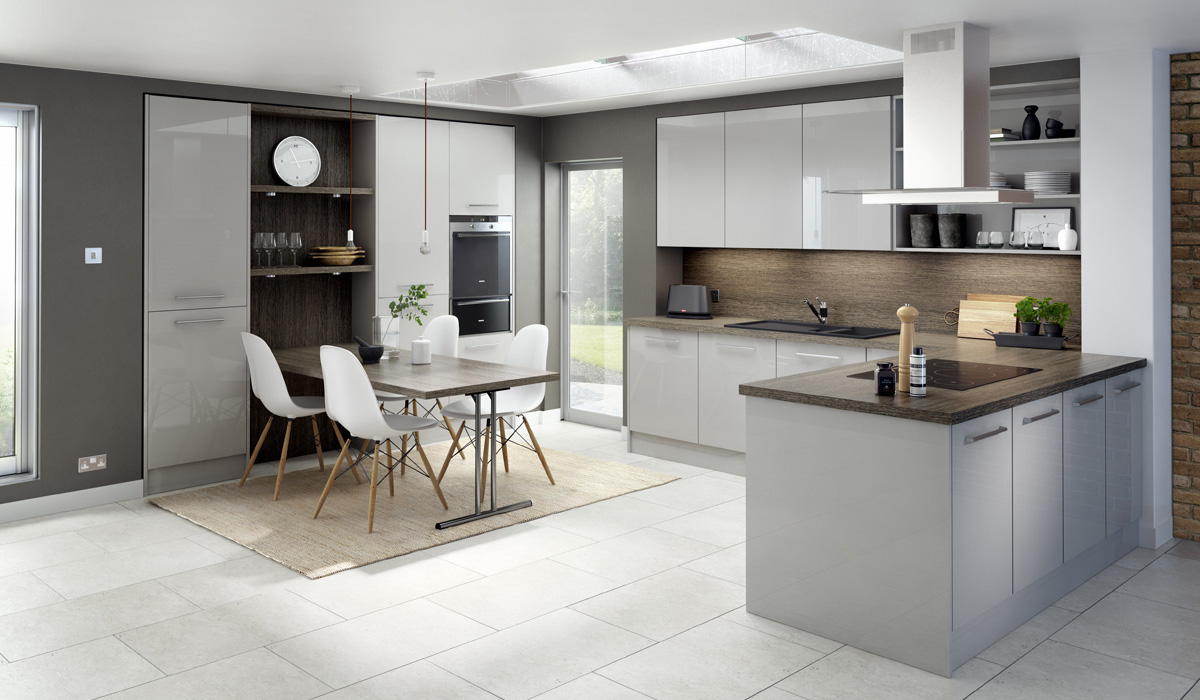Technical's Gloss Modern Style Kitchen - Chippendale Kitchens | Supplied and Installed by Kingsbury Kitchens